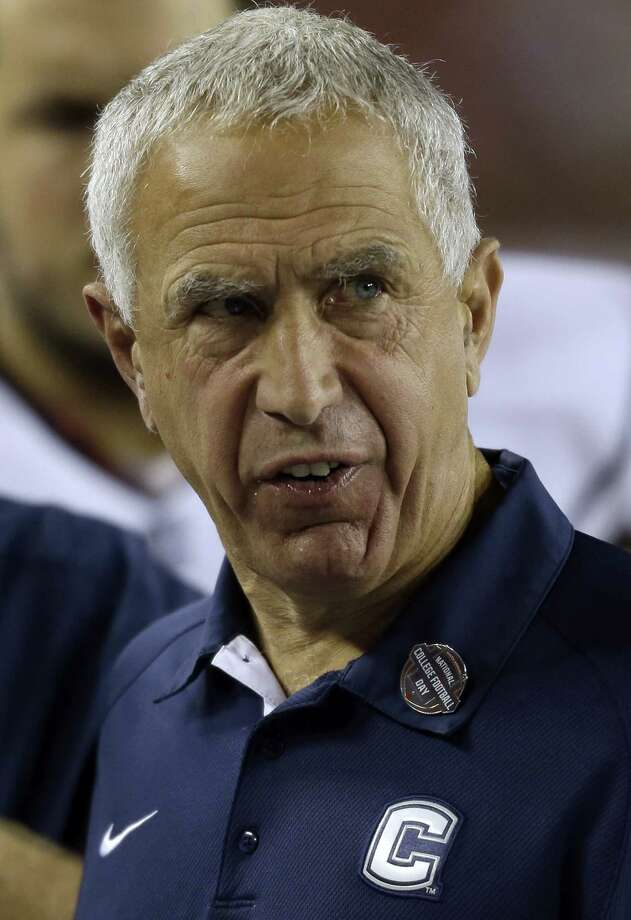 Connecticut head coach Paul Pasqualoni during the first half of an NCAA college football game against the South Florida Saturday, Nov. 3, 2012, in Tampa, Fla. (AP Photo/Chris O'Meara) Photo: Chris O'Meara, Associated Press / AP