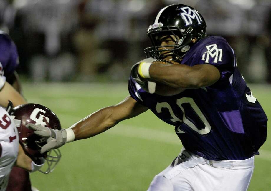 Deion Williams is a workhorse running back for Morton Ranch, never more so than Friday night, when he carried 49 times against Katy Taylor for 547 yards in a triple-overtime victory. Photo: Thomas B. Shea, Freelance / Freelance