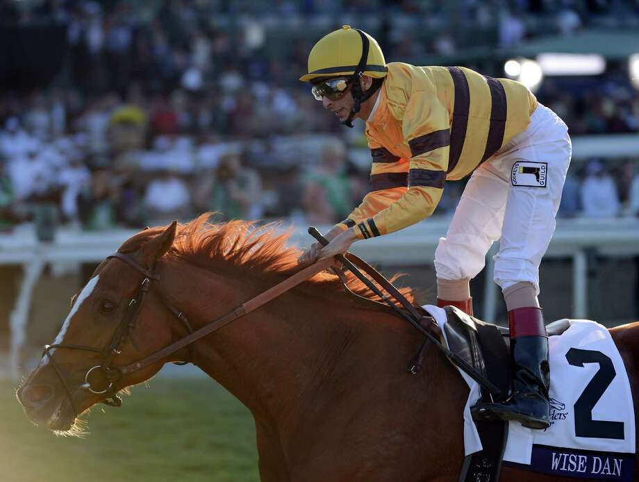 John Velazquez guided Wise Dan to such an impressive victory in the Breeders' Cup Mile on Saturday that he's being touted as the Horse of the Year favorite. Photo: Harry How, Staff / 2012 Getty Images