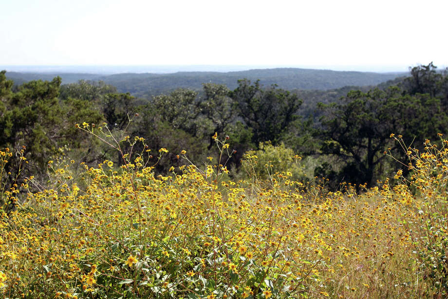 A view off a ridge shows different hues in the hill country on possible land additions to the Government Canyon State Natural Area  on October 30, 2012. Photo: Tom Reel, San Antonio Express-News / ©2012 San Antono Express-News