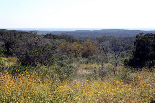 A westward vista shows on possible land additions to the Government Canyon State Natural Area  on October 30, 2012. Photo: Tom Reel, San Antonio Express-News / ©2012 San Antono Express-News