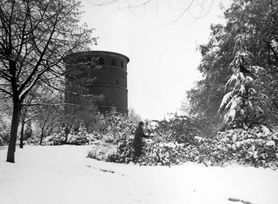 Here's a snowy scene from Seattle's Volunteer Park  taken Dec. 11, 1937. That day parts of Seattle had 7.5 inches of snow. (Copyright MOHAI, Seattle Post-Intelligencer Collection, PI28390. Click for reproductions.) Photo: -