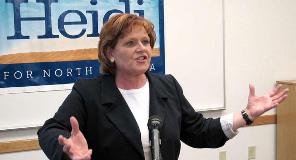Sen. Heidi Heitkamp, a North Dakota Democrat, faces reelection in a state that Donald Trump won by a landslide. (AP Photo)