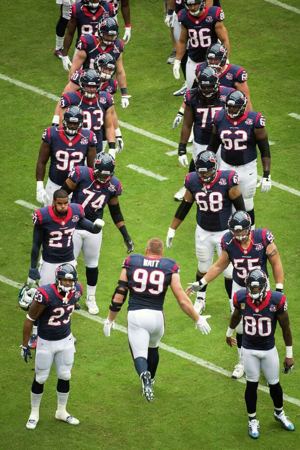 Texans defensive end J.J. Watt (99) takes the field to face the Buffalo Bills. Photo: Smiley N. Pool, Houston Chronicle / © 2012  Houston Chronicle