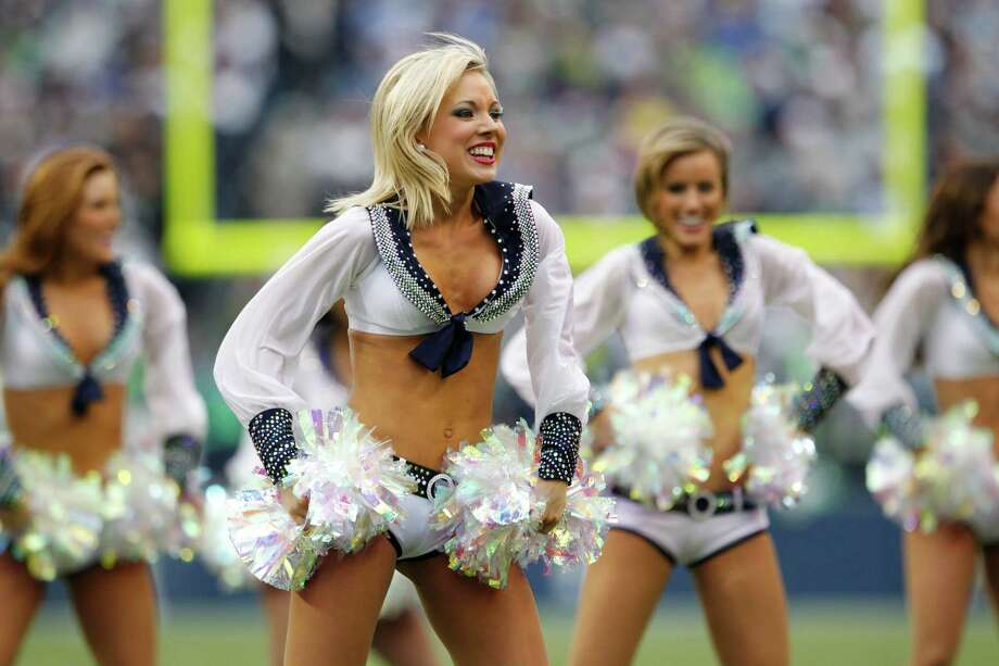 Seattle Seahawks Sea Gals cheerleaders perform in the second half of an NFL football game against the Minnesota Vikings, Sunday, Nov. 4, 2012, in Seattle. Photo: AP