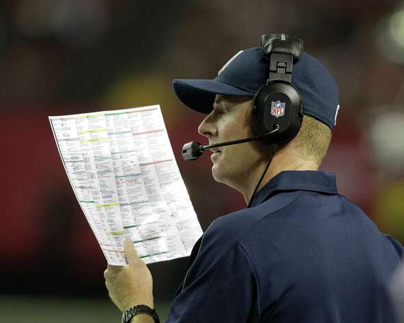 Dallas Cowboys head coach Jason Garrett is shown during the second half of an NFL football game against the Atlanta Falcons  Sunday, Nov. 4, 2012, in Atlanta. (AP Photo/Chuck Burton) Photo: Chuck Burton, Associated Press / AP