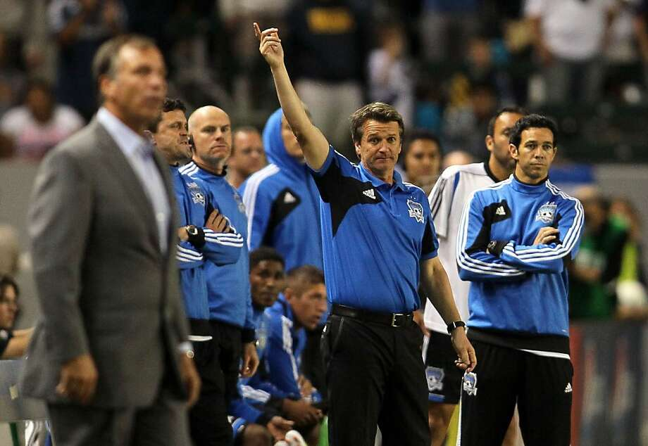 Frank Yallop won his second MLS coach of the year award after the Quakes' huge turnaround. Photo: Victor Decolongon, Getty Images
