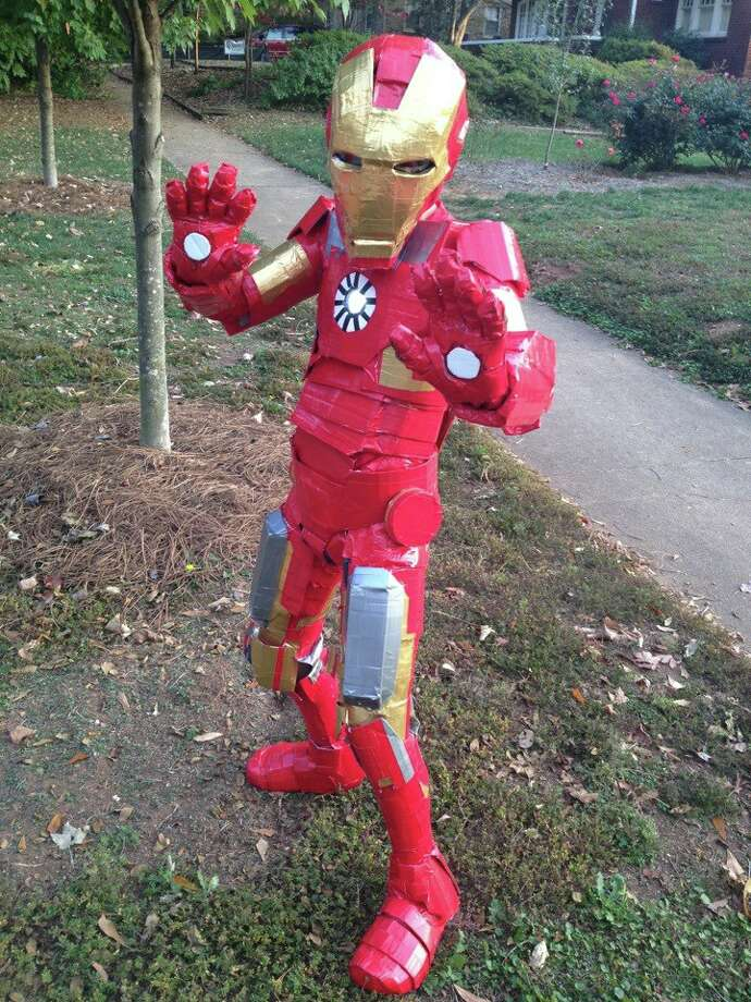"FINALIST! Jenn Purdy's son definitely shows the brains and drive to be the next Tony Stark. Mom writes: ""My son Tynan, age 11, made his own Iron Man costume entirely by hand out of duct tape and cardboard. He's been working on it for the past three months and has at least 80 hours invested.""–"
