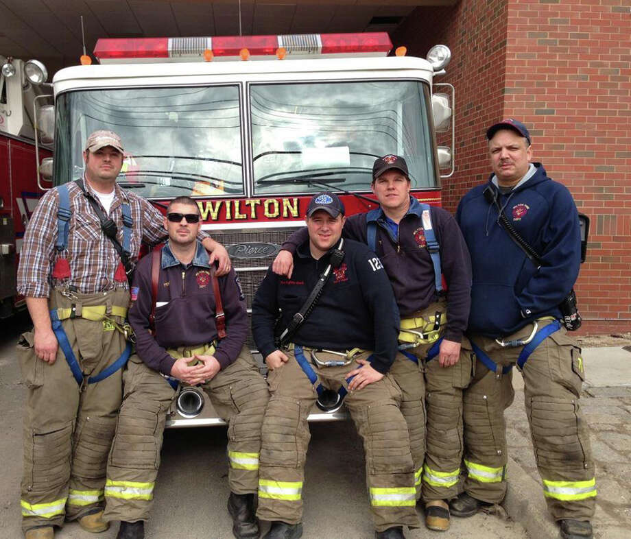 From left to right: Lt. Stephen St. Louis,  Capt. Stephen Penman, Ryan Ward, Tom Meehan, Ray Bailey. (Provided photo)