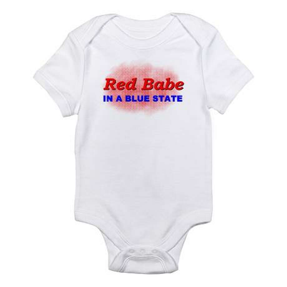 Red babe in a blue state, cafepress.com.