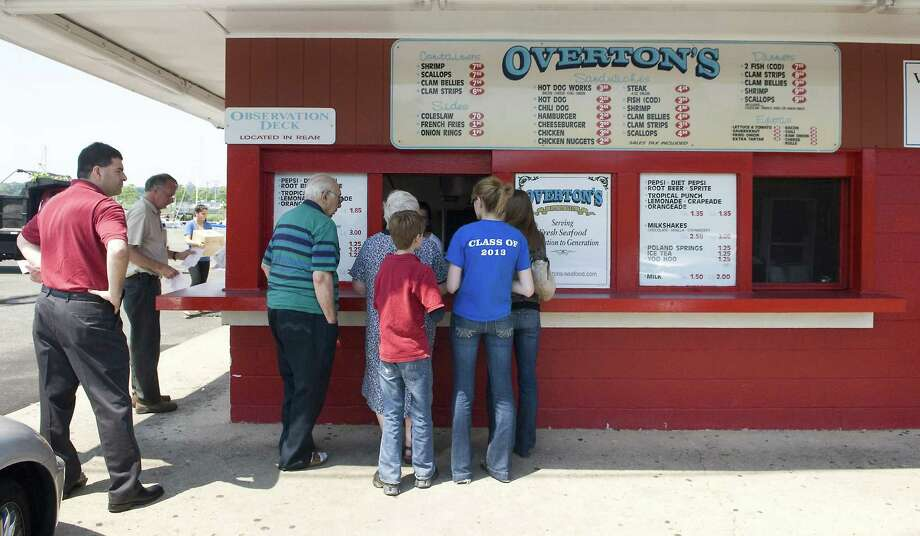 In this file photo, a lunch crowd begins to gather at Overton's in East Norwalk.   Kathleen O'Rourke/Staff photo Photo: Kathleen O'Rourke, ST