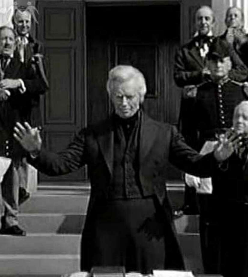 "Charlton Heston as Andrew Jackson in ""The President's Lady"" (striking a very Moses-like pose, no?)"
