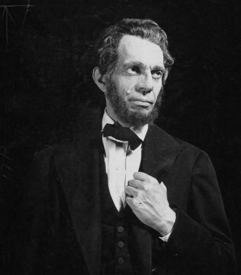 "Raymond Massey as Abraham Lincoln in ""Abe Lincoln in Illinois"""