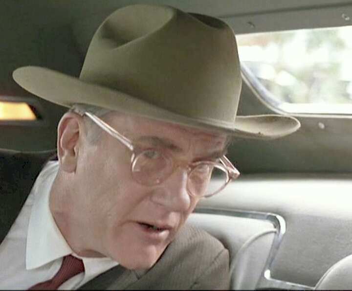 "Donald Moffat as Lyndon B. Johnson in ""The Right Stuff"""