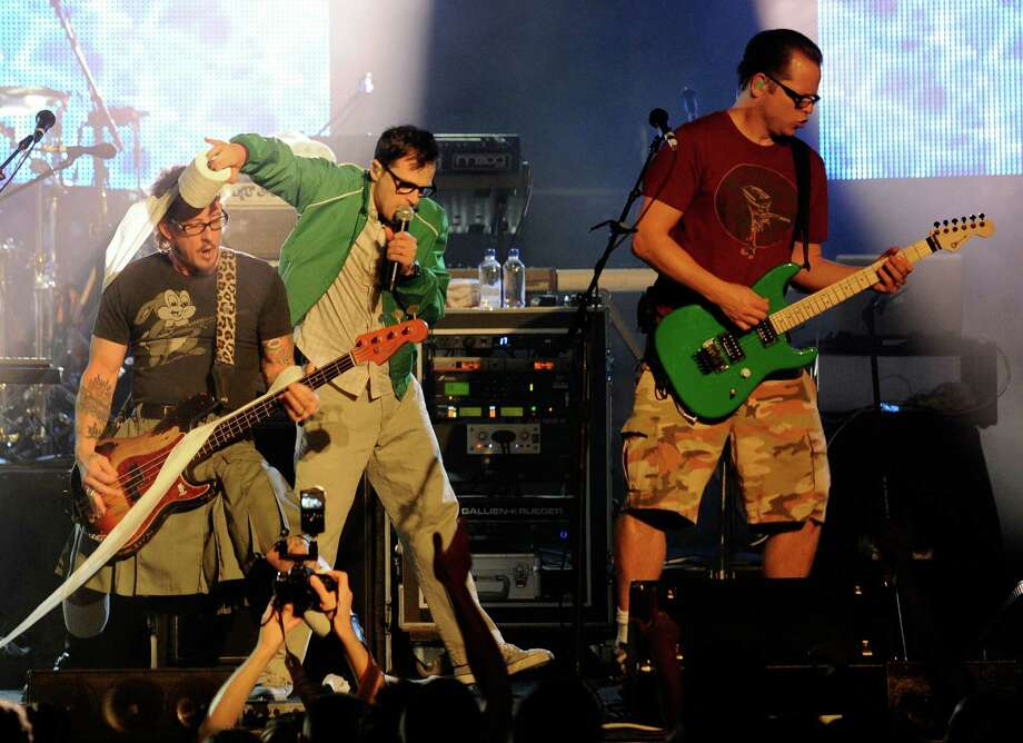 Weezer took its fans on the ultimate trip as they performed on a music-themed cruise ship. Who needs bingo and buffets when you have Rivers Cuomo?  Photo: Ethan Miller, Getty Images For MGM Resorts Int / Getty Images North America