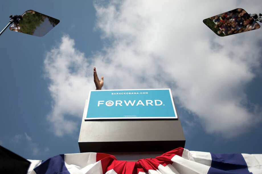 In this Sept. 13, 2012 file photo, President Obama speaks during a campaign event at Lions Park in Golden, Colo. Photo: AP