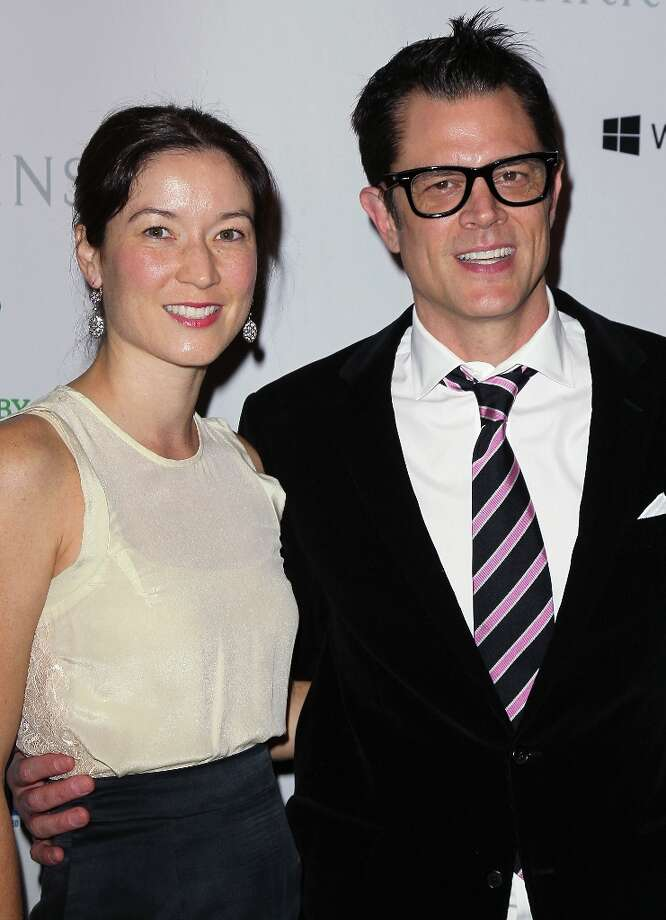 Actor Johnny Knoxville (R) and wife Naomi Nelson attend the 1st Annual Baby2Baby Gala at The BookBindery on November 3, 2012 in Culver City, California. Photo: David Livingston, Getty Images / 2012 Getty Images
