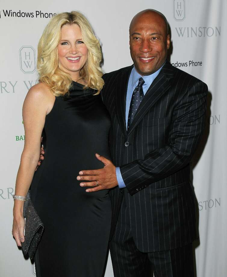 Producer Byron Allen (R) and wife Jennifer Lucas attend the 1st Annual Baby2Baby Gala at The BookBindery on November 3, 2012 in Culver City, California. Photo: David Livingston, Getty Images / 2012 Getty Images