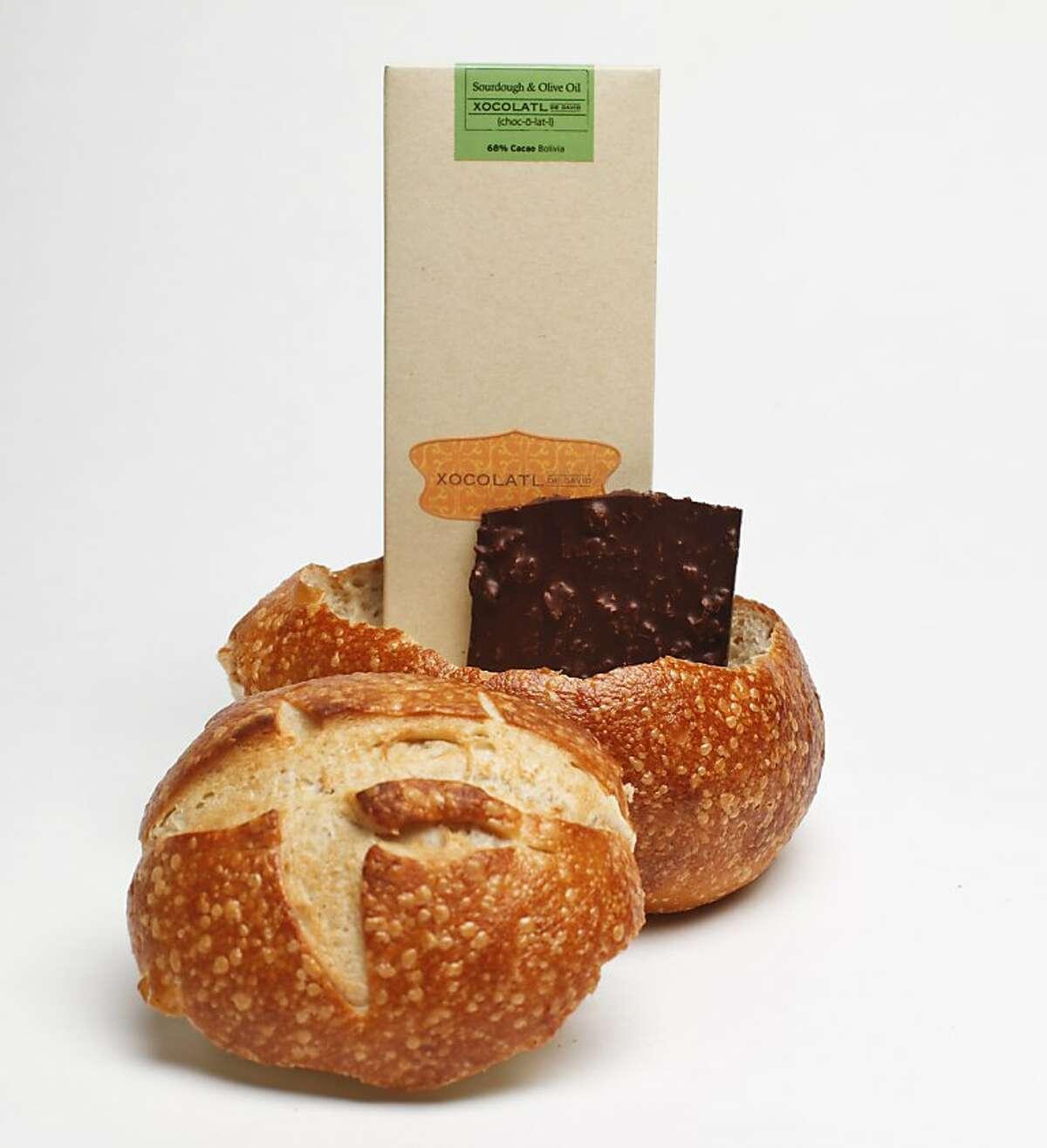 A Boudin bread bowl and Xocolatl de David chocolate are seen on Monday, Nov. 5, 2012 in San Francisco, Calif.