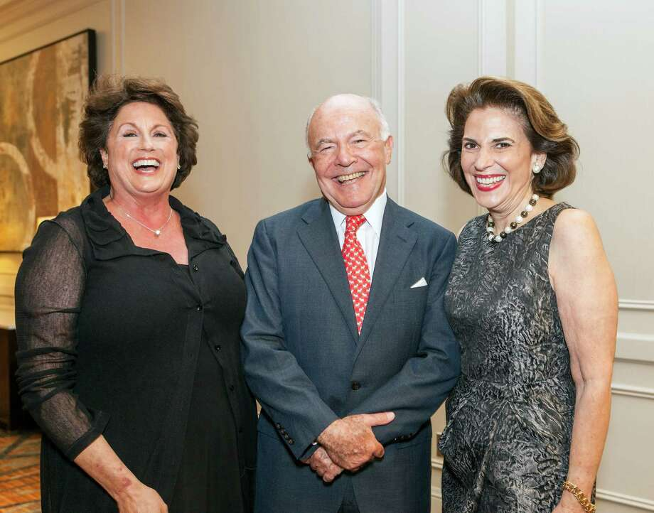 Rochelle Jacobson, from left, with honorees George and Lois Stark Photo: Craig Hartley, Freelance / Copyright: Craig H. Hartley