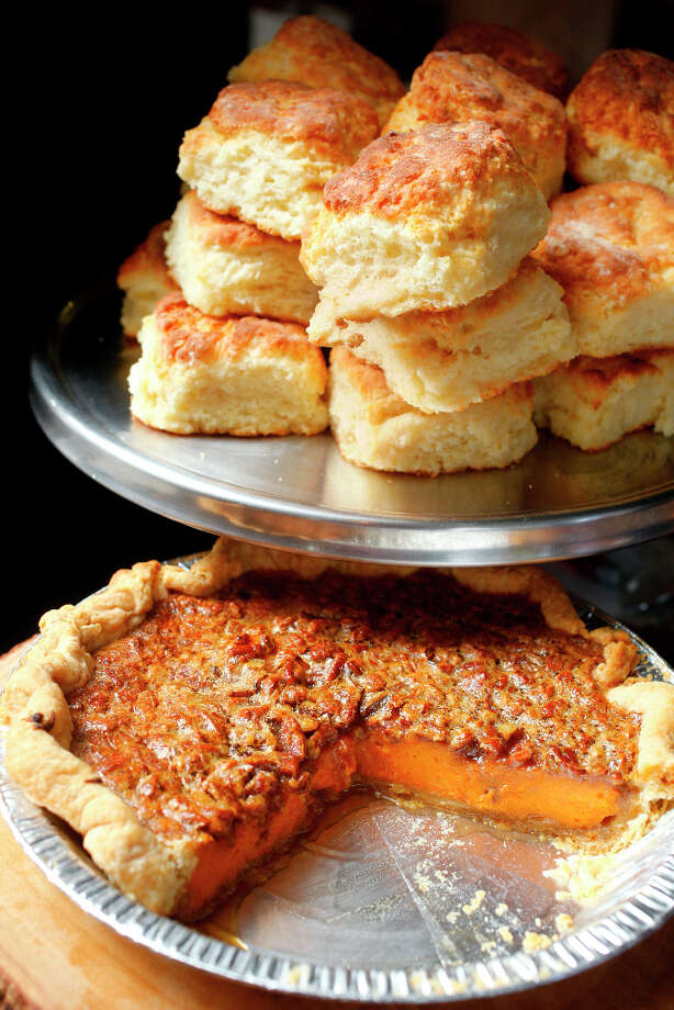 Sweet Potato Pecan Pie and Biscuits. Photo: Craig Lee, Special To The Chronicle / ONLINE_YES