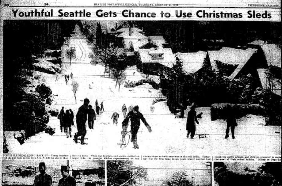 These were some of the photos that were published in the P-I on Jan. 21, 1943. The microfilm copy is the best that's available quickly. The UW Special Collections has bound editions of the hard copies and many of the images have been preserved by the Museum of History and Industry since a 1976 donation. Photo: Seattlepi.com