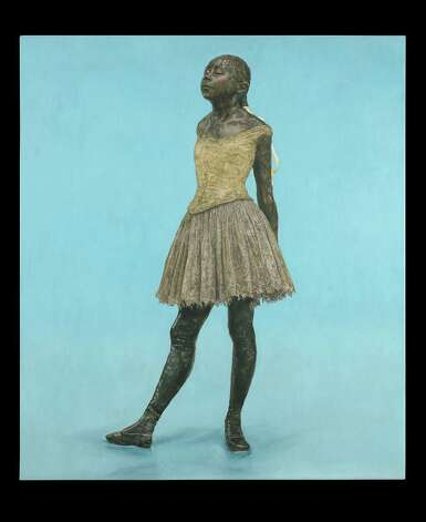 """Little Fourteen Year-Old Dancer on blue ground"" by Jane Sutherland of Fairfield is one of about 50 pieces on view in ""Muse,"" an exhibition at the Westport Arts Center. Photo: Contributed Photo"