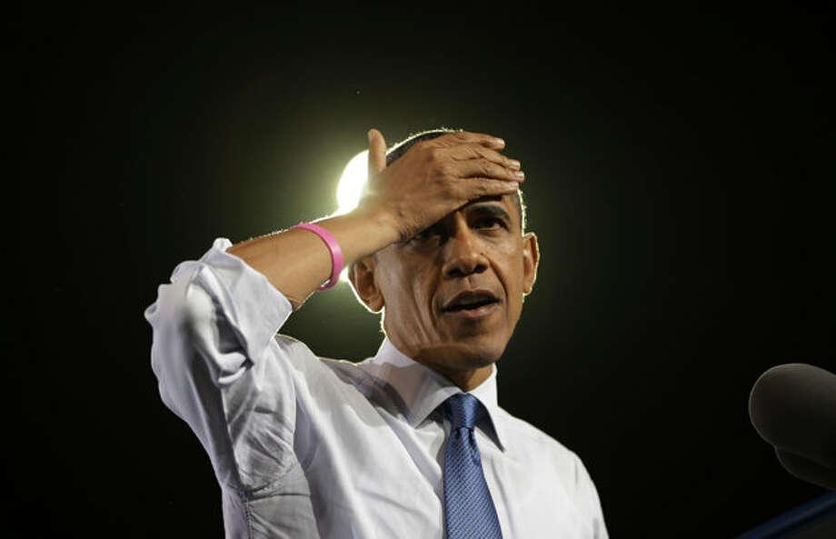President Barack Obama speaks during a campaign event at Doolittle Park, Wednesday, Oct. 24, 2012, in Las Vegas. (Pablo Martinez Monsivais / AP Photo)