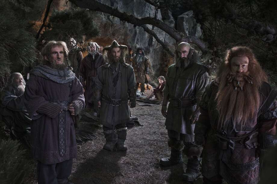 "(L-r) IAN McKELLEN as Gandalf, ADAM BROWN as Ori, JOHN CALLEN as Oin (behind tree branch), MARK HADLOW as Dori, JED BROPHY as Nori, AIDAN TURNER as Kili, WILLIAM KIRCHER as Bifur, MARTIN FREEMAN as Bilbo Baggins, GRAHAM McTAVISH as Dwalin and PETER HAMBLETON as Gloin in New Line Cinema's and MGM's fantasy adventure ""THE HOBBIT: AN UNEXPECTED JOURNEY,"" a Warner Bros. Pictures release."