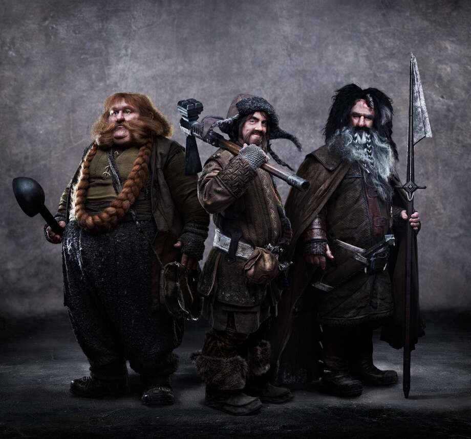 "(L-r) STEPHEN HUNTER as Bombur, JAMES NESBITT as Bofur and WILLIAM KIRCHER as Bifur in New Line Cinema's and MGM's fantasy adventure ""THE HOBBIT: AN UNEXPECTED JOURNEY,"" a Warner Bros. Pictures release."