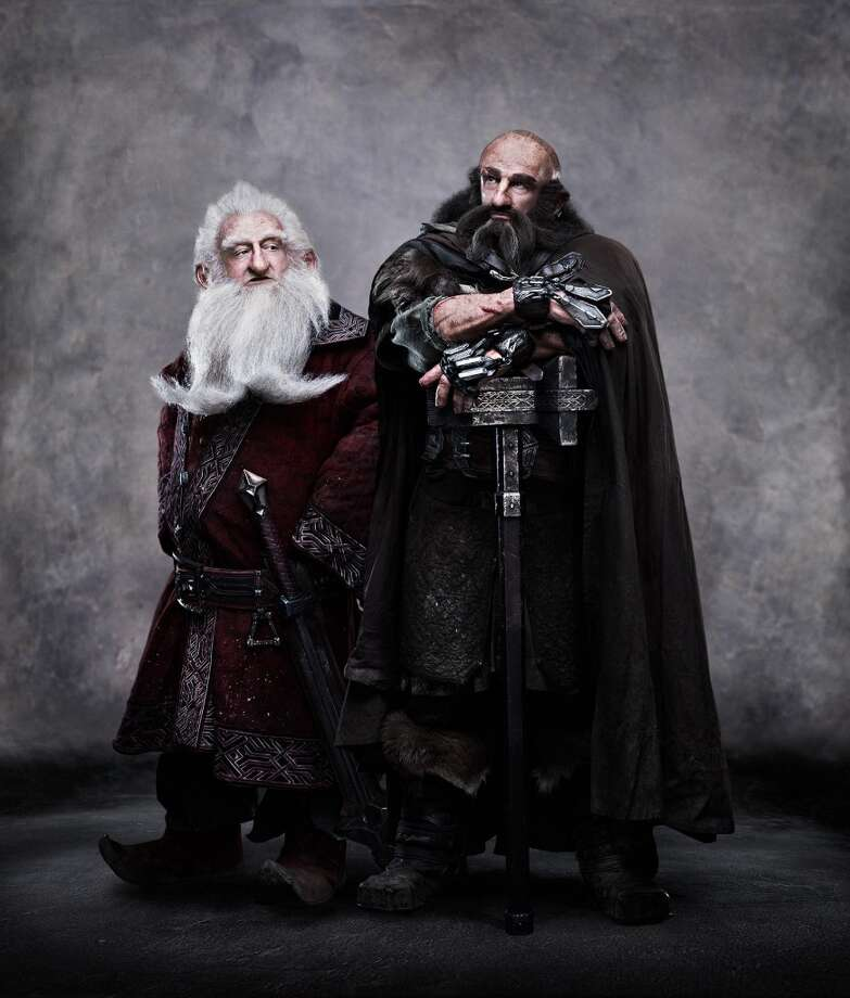 "(L-r) KEN STOTT as Balin and GRAHAM McTAVISH as Dwalin in New Line Cinema's and MGM's fantasy adventure ""THE HOBBIT: AN UNEXPECTED JOURNEY,"" a Warner Bros. Pictures release."