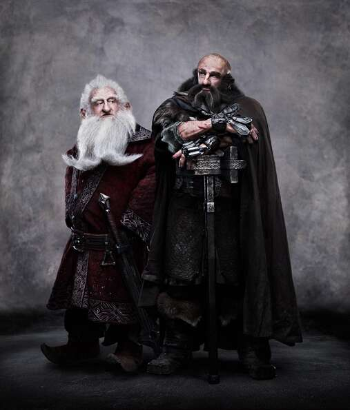 (L-r) KEN STOTT as Balin and GRAHAM McTAVISH as Dwalin in New Line Cinema's and MGM's fantasy adven