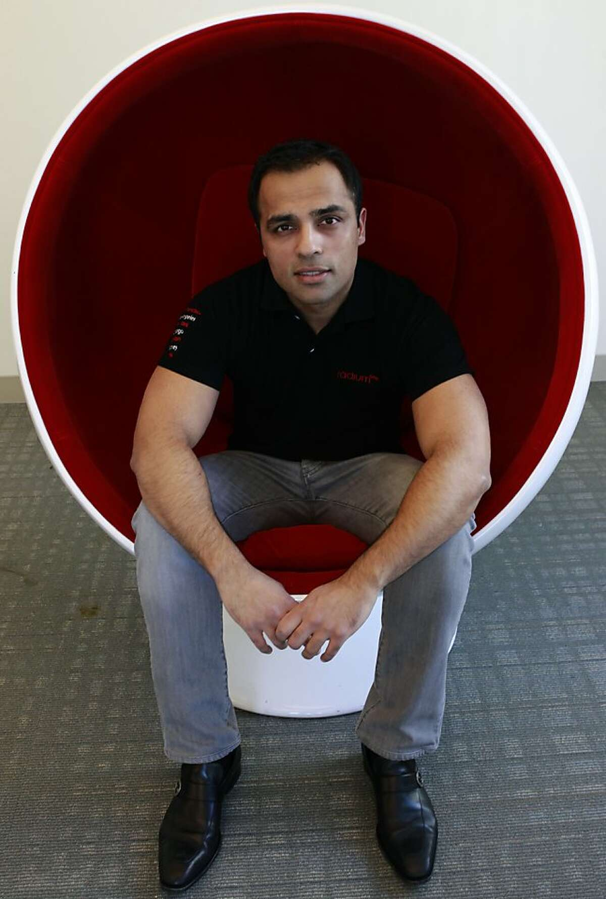 Gurbaksh Chahal, founder, chairman and CEO of online advertising company Radium One, is seen in the corporate offices in San Francisco, Calif. on Thursday, Nov. 1, 2012.