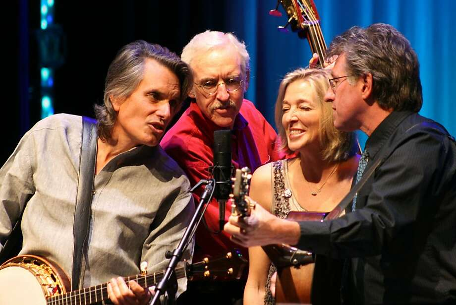 """Berkeley musician Nell Robinson, shown with Keith Little (left), Marshall Wilborn and Jim Nunally, will perform her show """"Soldier Stories"""" on Sunday at Freight & Salvage. Photo: Gene D Andrea"""
