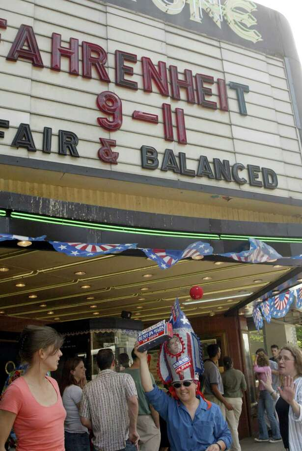 "It also showed Michael Moore's political documentary ""Fahrenheit 9/11"" in 2004, which attracted activists to its storefront. Photo: PHIL H. WEBBER, /"