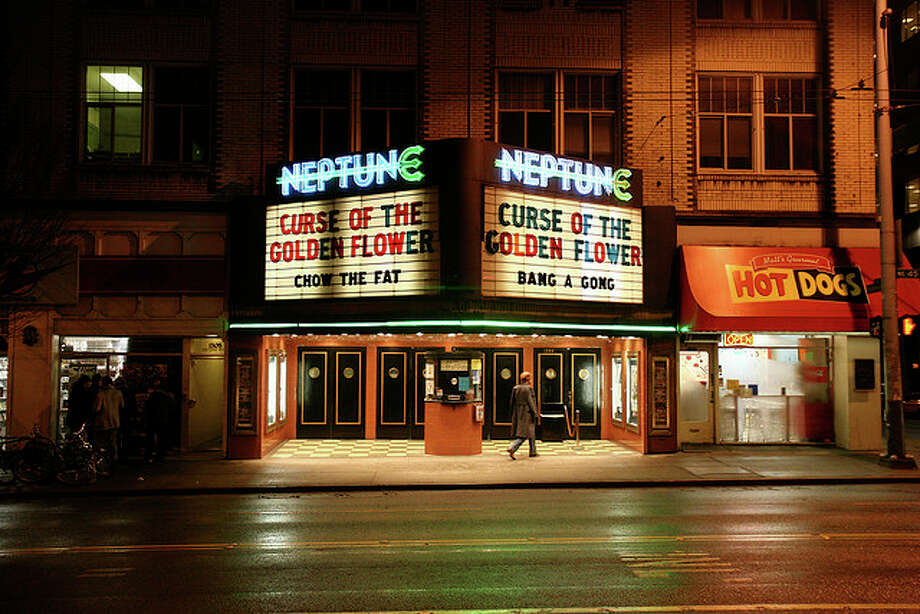 "The Neptune Theatre opened on Nov. 26, 1921, with organ music, a full house and silent movie ""Serenade."" Over the years, it became known as a movie lover's dream, fronted by a giant marquee and cool, neon trident sign. Photo:aturkus, Creative Commons Flickr. Photo: /"