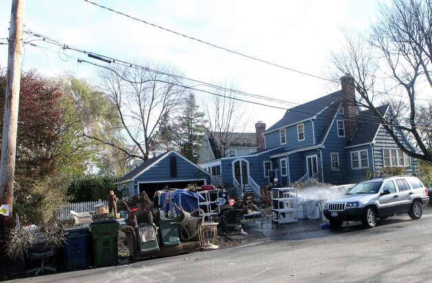 Fairfield, Conn. residents begin to clean up after storm Sandy, on Monday, November 5, 2012. Photo: BK Angeletti, B.K. Angeletti / Connecticut Post freelance B.K. Angeletti