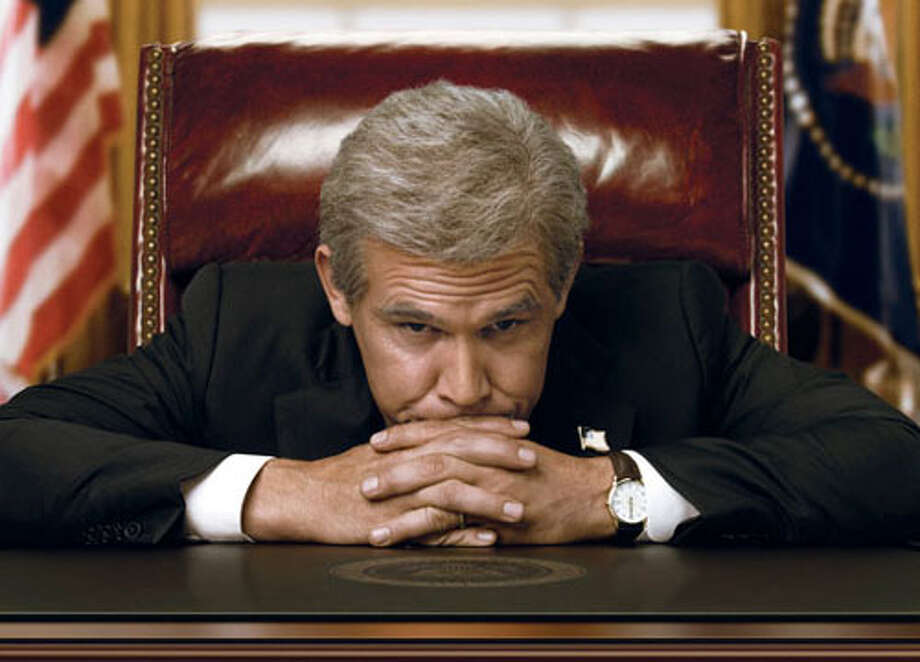 "Josh Brolin as George W. Bush in ""W."""