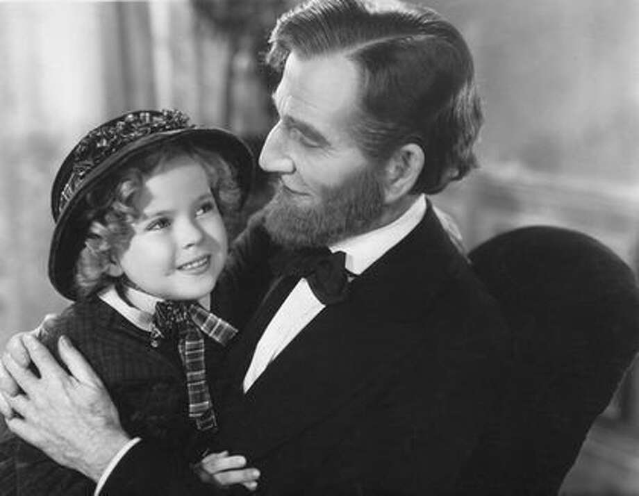 "Frank McGlynn Sr. as Abraham Lincoln in ""The Littlest Rebel"" - as well as several other films (with Shirley Temple)"