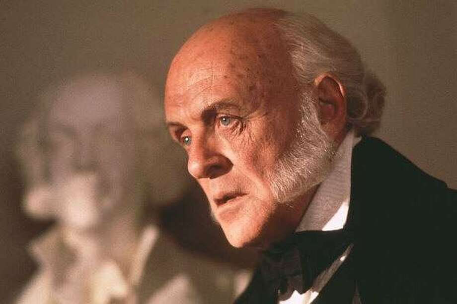 "Anthony Hopkins as John Quincy Adams in ""Amistad"""