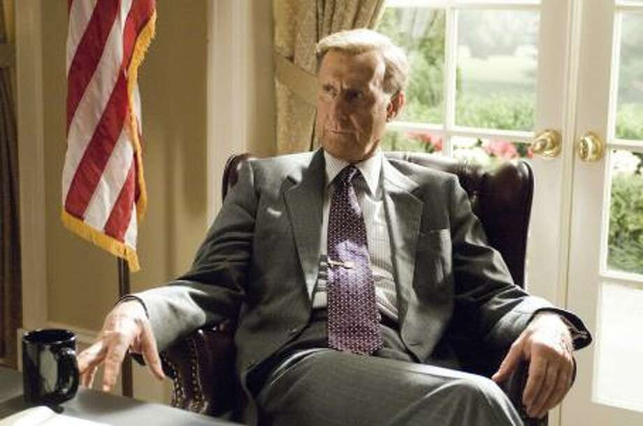 "James Cromwell as George H. W. Bush in ""W."""