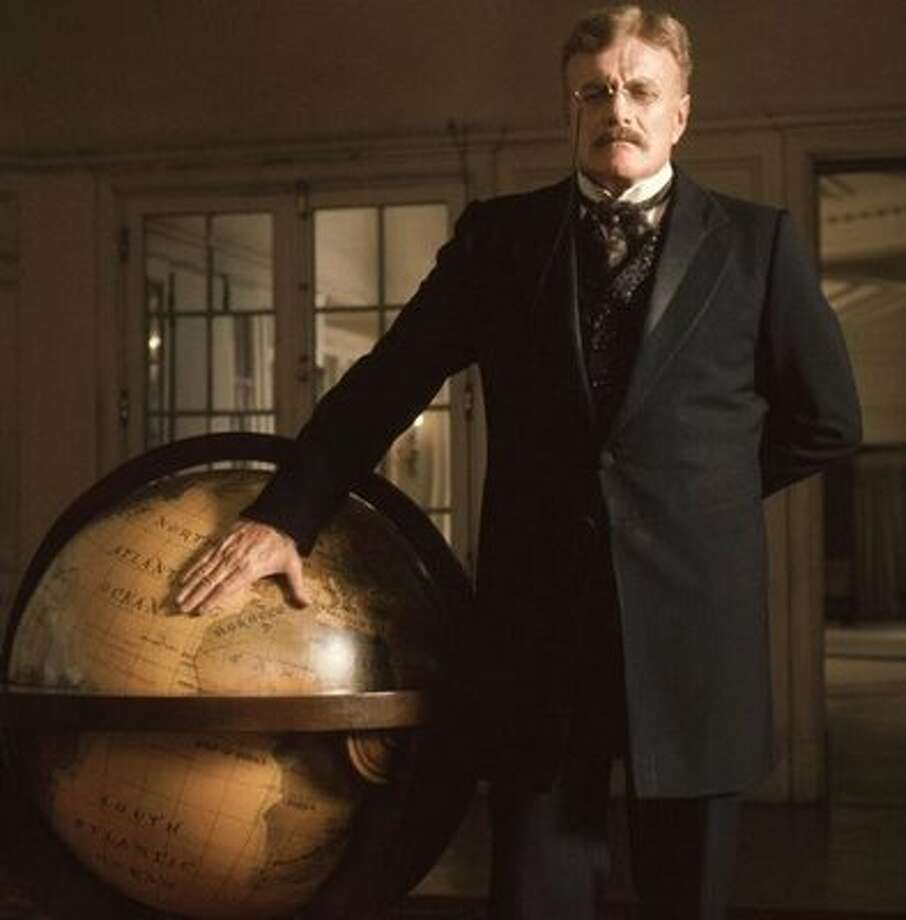 """Brian Keith as Theodore Roosevelt in """"The Wind and the Lion"""""""