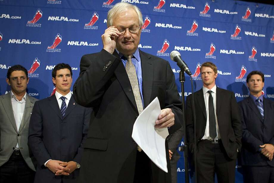 Union chief Donald Fehr and the players weren't thrilled when bargaining talks stopped Oct. 18. Photo: Chris Young, Associated Press