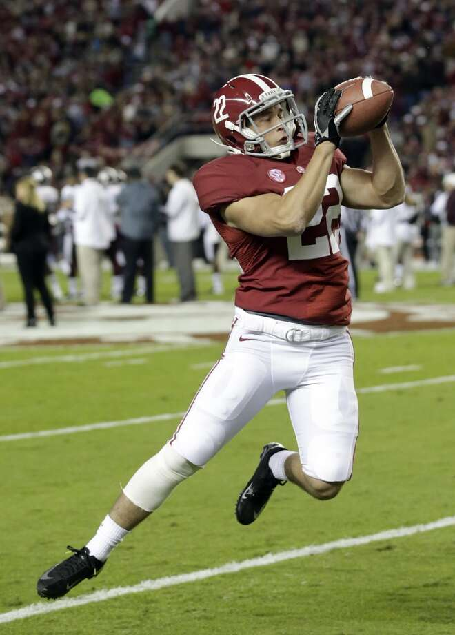 Alabama defensive back Hunter Bush (22) catches the ball prior to an NCAA college football game against Mississippi State at Bryant-Denny Stadium in Tuscaloosa, Ala., Saturday, Oct. 27, 2012. (AP Photo/Dave Martin) (Associated Press)