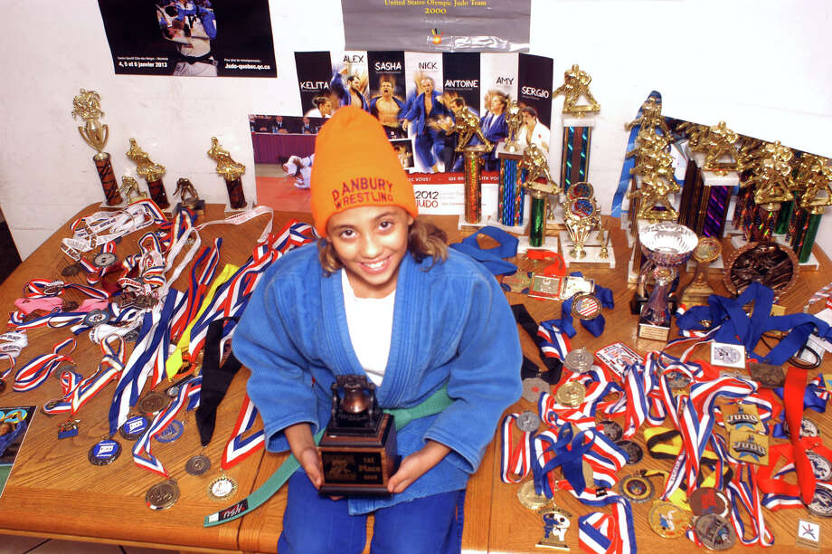 Victoria Goncalves, of Danbury, a 12-year-old Broadview Middle School student and judo champio, hopes to be on the 2016 US Olympic Judo team. Photo: John Pirro