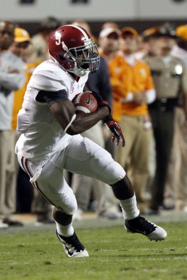 Alabama wide receiver Amari Cooper (9) runs with the ball during the first quarter of an NCAA college football game on Saturday, Oct. 20, 2012 in Knoxville, Tenn. (AP Photo/Wade Payne) (Associated Press)