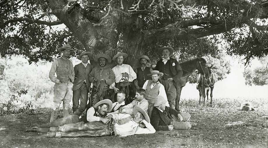 "The ""I See Beauty in This Life"" exhibition includes this photo of cowboys posing at Rancho Santa Anita around 1890. Photo: California Historical Society"