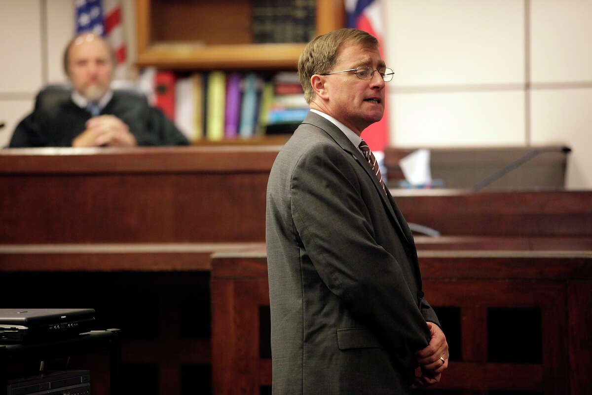 Bexar County Prosecutor Charles Rich addresses the jury during opening statements in a November, 2010 trial before 226th District Court Judge Sid Harle. JERRY LARA/glara@express-news.net