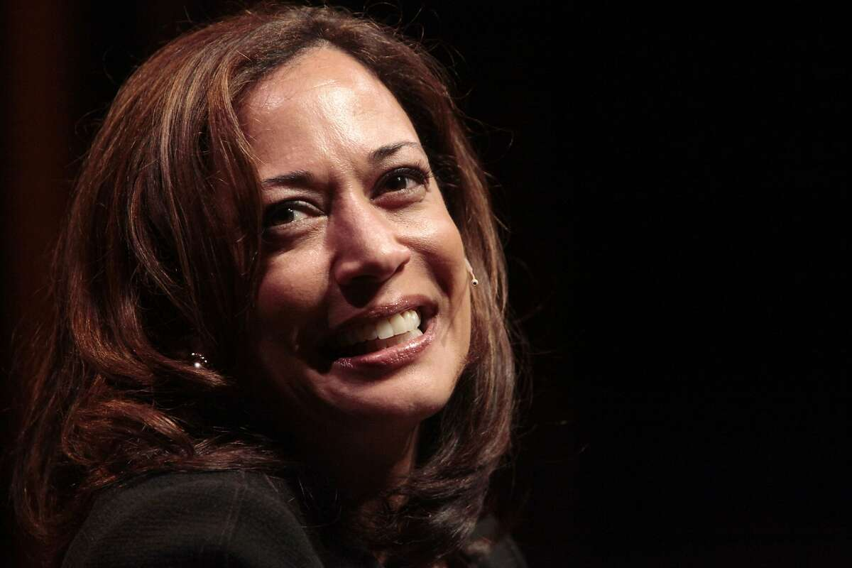 Attorney General Kamala Harris is seen during The Forum: Conversations at YBCA