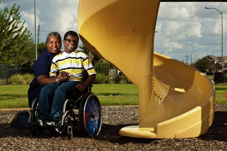 Pamela Brown is the grandmother of 14-year-old Kaylon Brown, who has hydrocephalus, or fluid on the brain. She has cared from him since he was an infant but only recently has become his legal guardian. Photo: Eric Kayne / © 2012 Eric Kayne